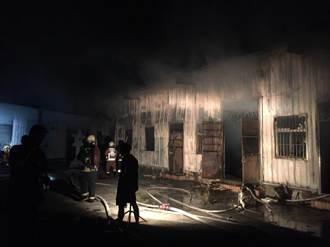 萬里金海禪寺失火 160坪鐵皮屋慘了!