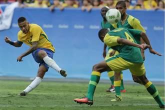 奧運男足》21次射門0進球 巴西遭南非逼和