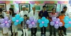 湖口仁慈醫院開畫展 年紀最小參展者僅2歲