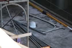 沙鹿火車站雨棚修繕工程  工人不慎觸電