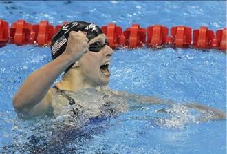 里約奧運》美泳正妹好狂 蕾德基再締400自新猷