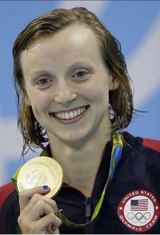 里約奧運》驚險奪冠 美泳將蕾德基:緊張到快吐了
