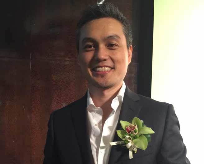 曾仲銘現是遊戲新兵「隆中網絡」的董事長。(何英煒攝)