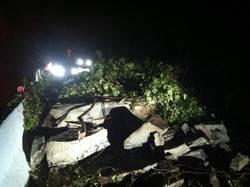 新竹南清公路43.5公里土石掉落中斷