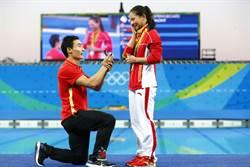 陸跳水女將何姿銀恨  男友奧運現場求婚