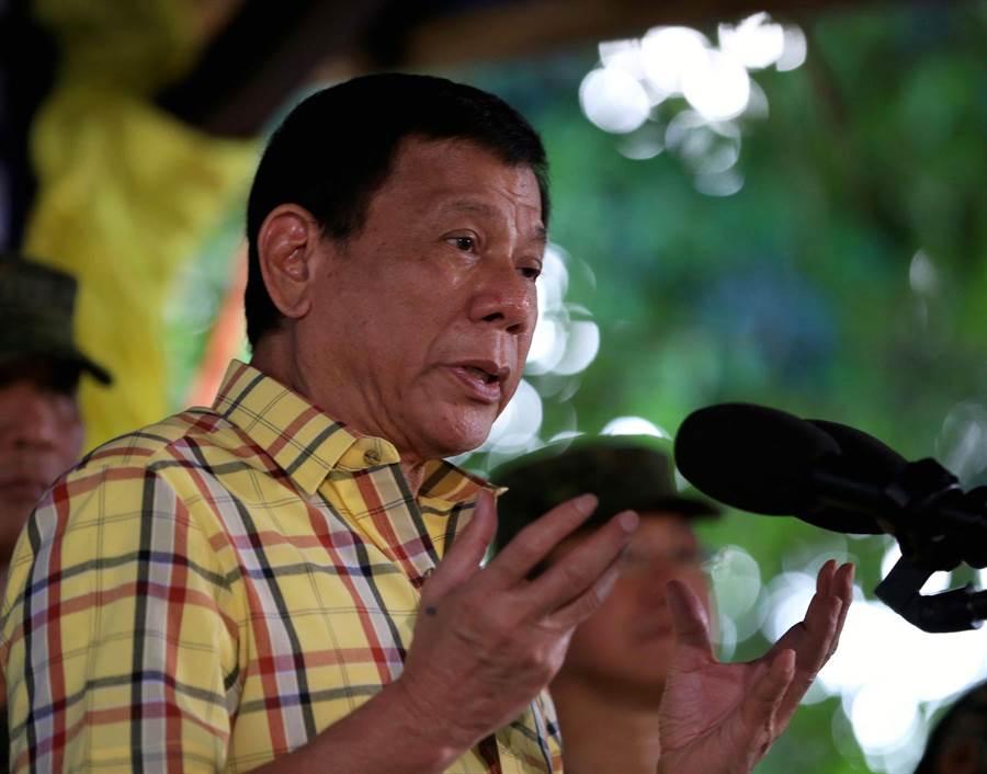 菲律賓總統杜特蒂,走的是獨立自主的民族主義外交路線。(中新社)