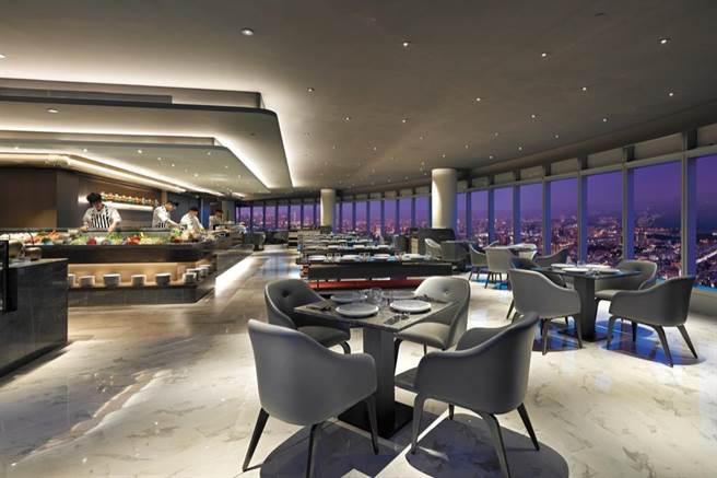 全台最高自助餐廳「50樓Café」。(Mega50提供)