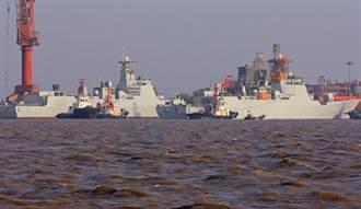 外媒:衛星照曝光中共趕工建造中華神盾艦