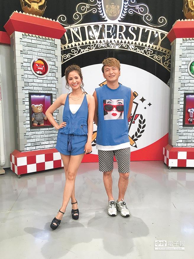 KID與吳怡霈因主持中天《大學生了沒》傳出緋聞。