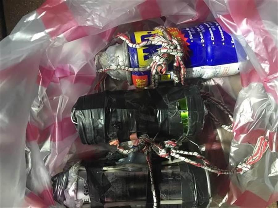 警方搜出疑似土製炸彈。(非事發示意圖/中時資料照)