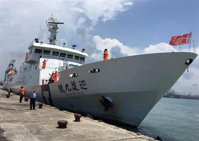 海洋巡防總局直屬船隊巡護九號19日自高雄出航,進行今年第3航次遠洋巡護任務。(海巡提供)