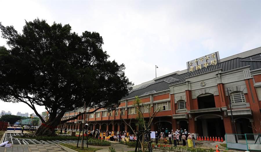 台中市新建國市場將於9月20日啟用,屆時將有711個攤位成為國內最大、最新穎且現代化的公有零售市場。(陳世宗攝)