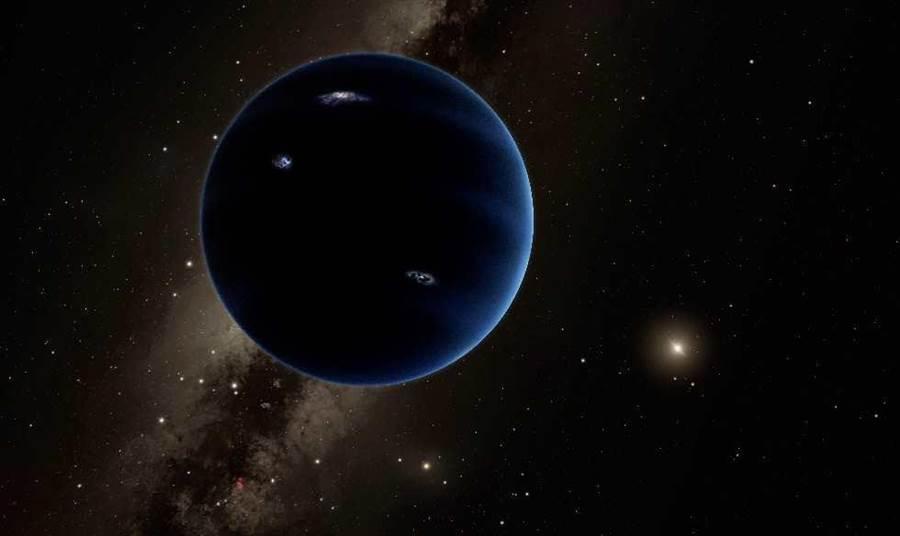 藝術家繪製的第九大行星可能的模樣。 (美聯社)