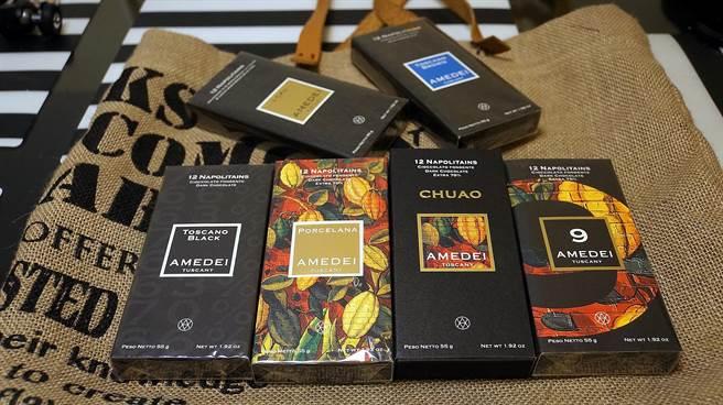 在富美佳取得代理權後,在台灣已可更輕易買到「法拉利級」的義大利AMEDEI巧克力了。(圖/姚舜攝)
