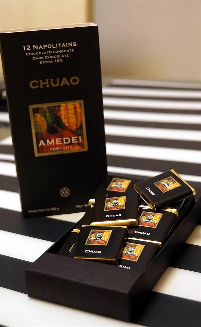 AMEDEI的CHUAO巧克力,是巧克力中極品中的極品,並被許多全球頂級甜點主廚推崇。(圖/姚舜攝)