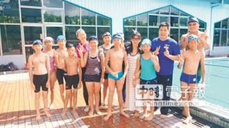 溪山12學童 明泳渡日月潭