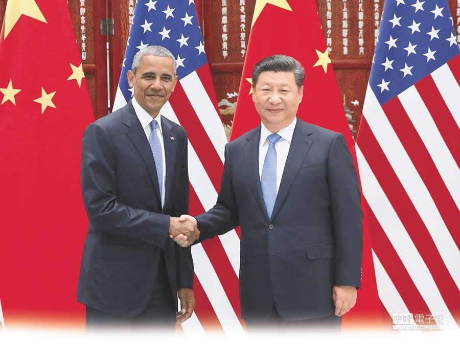 美國總統歐巴馬與大陸國家主席習近平。(新華社)