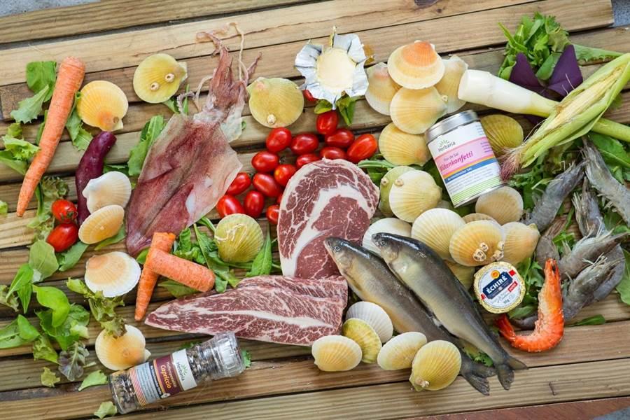 美福、GREEN&SAFE、安永鮮物等食材店,讓中秋烤肉更精采。(鄧博仁攝)