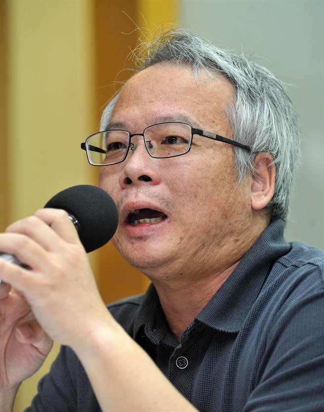 全國教師工會總聯合會副秘書長羅德水。(劉宗龍攝)