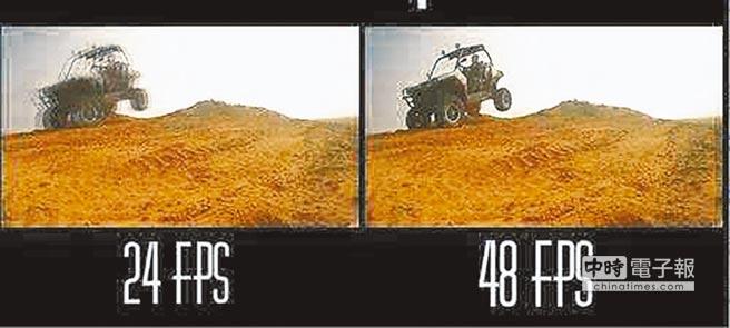 24幀頻的影像(左)與48幀頻的差異明顯。(翻攝自網路)