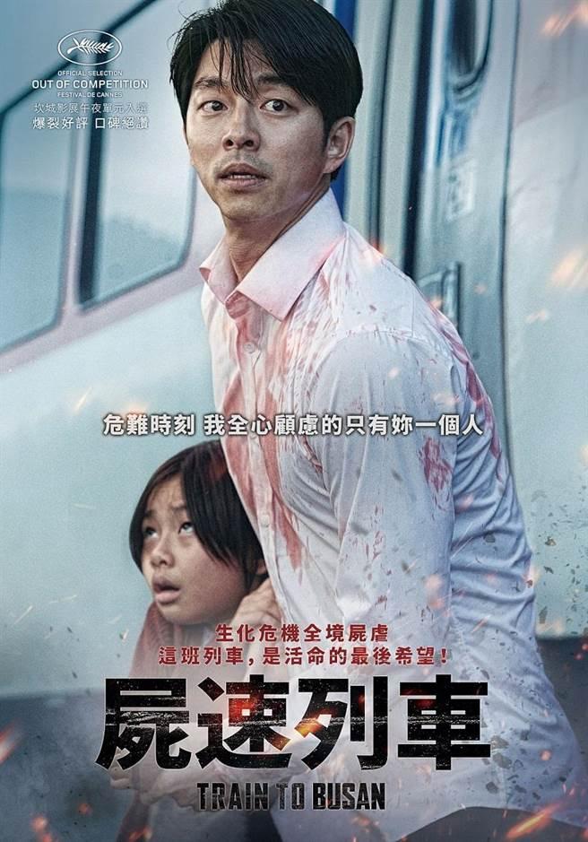 《屍速列車》角色版海報:孔劉、金秀安。(圖/車庫娛樂)