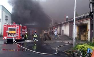 楊梅化纖工廠火警  火勢大無人傷亡受困