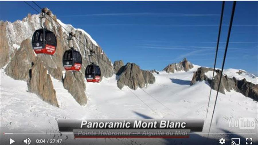 法國阿爾卑斯山區纜車故障,入夜救援暫停,仍有45人受困待援。(圖翻攝自YouTube)