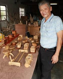 潮州文青阿伯手作木頭藝品 打造事業第二春