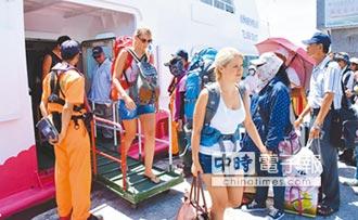 颱風掃興 離島遊客急撤