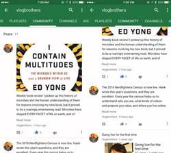YouTube測試社群功能 供創作者抓住粉絲的心