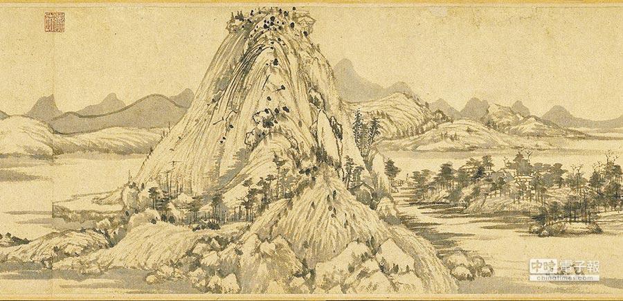 《富春山居圖》是黃公望最為人熟知的重要代表作。(故宮提供)
