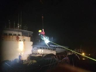 空拍鏡頭直擊!西子灣4漁船相撞 造成首位罹難者