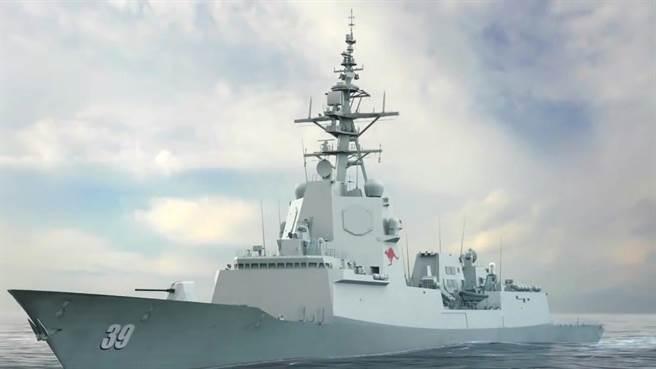 澳洲海軍神盾艦霍巴特號。(圖/澳洲海軍)