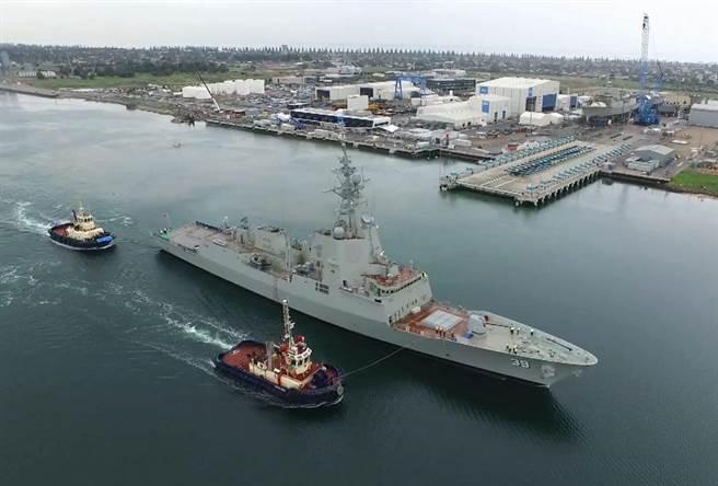 剛完成的霍巴特號。(圖/澳洲海軍)