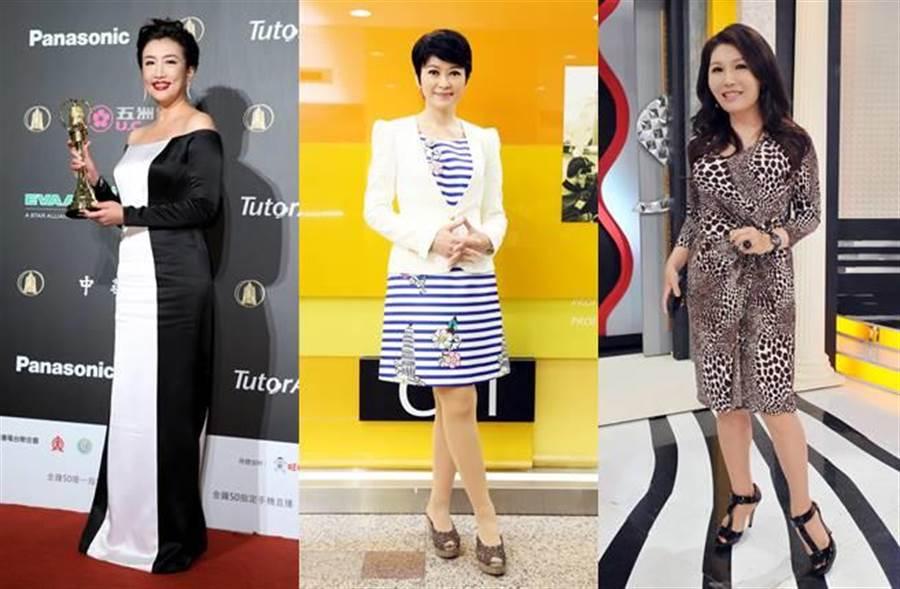 陳雅琳雖然年薪調漲成500萬,但她仍輸給方念華(左起)、盧秀芳以及張雅琴。(圖/本報系資料照)