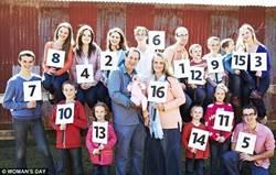 澳洲最大家庭16孩子 上下學得點名