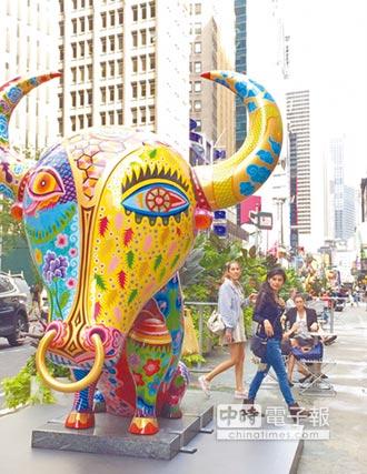五顏六色「動物」 駐足曼哈頓