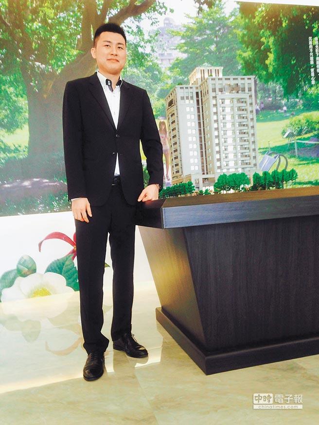 坤聯發建設執行長陳丕育精選寶地推出「博館匯」個案。圖/黃繡鳳