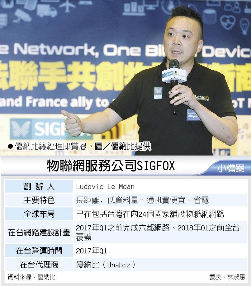 優納比總經理邱賞恩。圖/優納比提供  物聯網服務公司SIGFOX