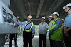 中颱梅姬襲台  台中副市長林陵三視察捷運工程防災準備
