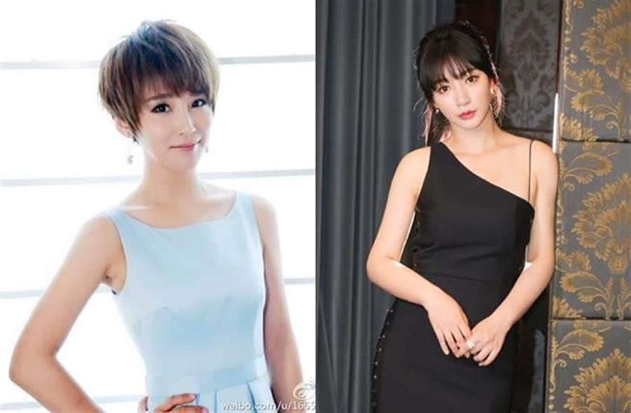 黃安近日在微博曝出陸名主持人謝楠(左)與女主播柳岩出道往事。(圖/取材自謝楠、柳岩微博)