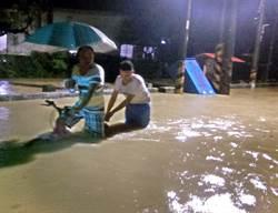 梅姬回馬槍 屏東內埔、萬巒一度淹水