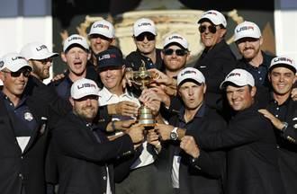 美國大贏歐洲6分 萊德盃風光奪冠