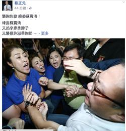 襲胸女立委?蔡正元:蘇震清是比較老的陳為廷