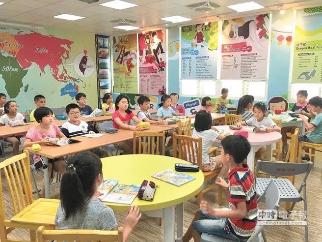桃園市教育局推校園英語學習情境,活化學校的空間,縮短城鄉教育差距。(甘嘉雯翻攝)