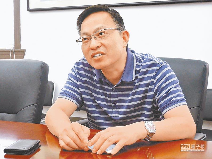 上海台研所常務副所長倪永杰。(記者陳君碩攝)