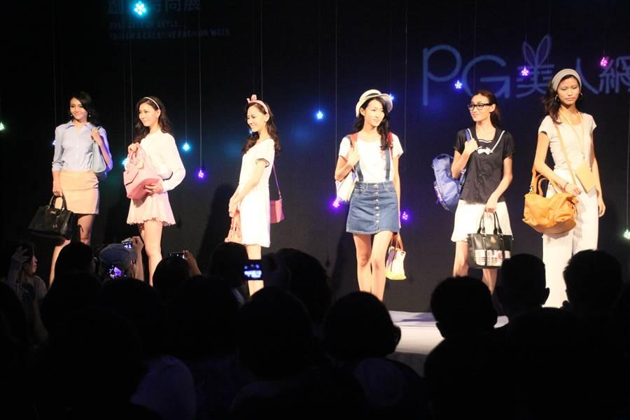台南經發局舉辦創意時尚秀,鏈結在地紡織廠商,提供平台,並請來模特兒穿上廠商設計衣服走秀。(程炳璋攝)