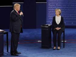 美國總統大選第二場辯論 希拉蕊領先川普20%