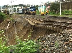 台鐵東線鹿野站土石流 僅剩1股道通行