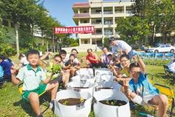 學童變身小農 種菜擺攤自售